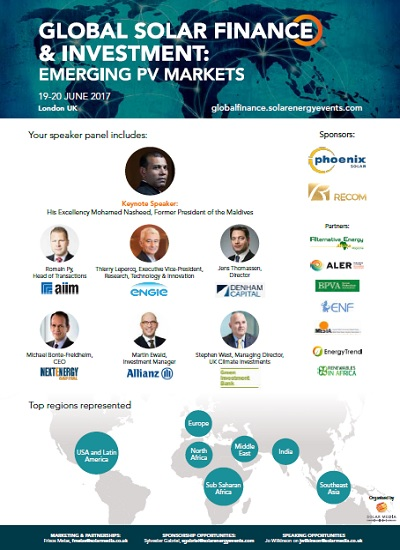 Thumbnail for Solar Finance & Investment Emerging Markets - Event Programme and Agenda