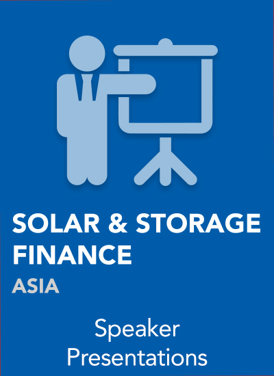 Thumbnail for Solar & Storage Finance Asia 2018 - Speaker Presentations