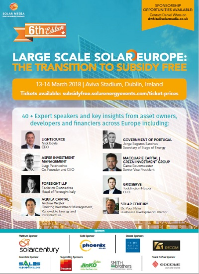 Thumbnail for Event Programme - Large Scale Solar Europe 2018