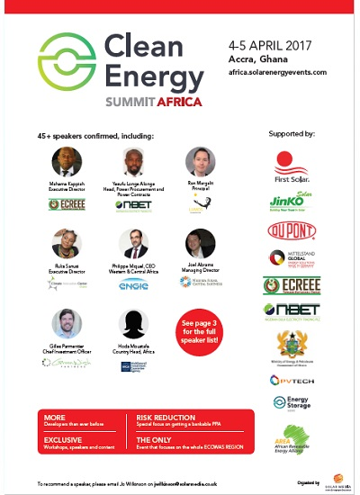 Thumbnail for Clean Energy Summit Africa 2017 - Programme and Agenda