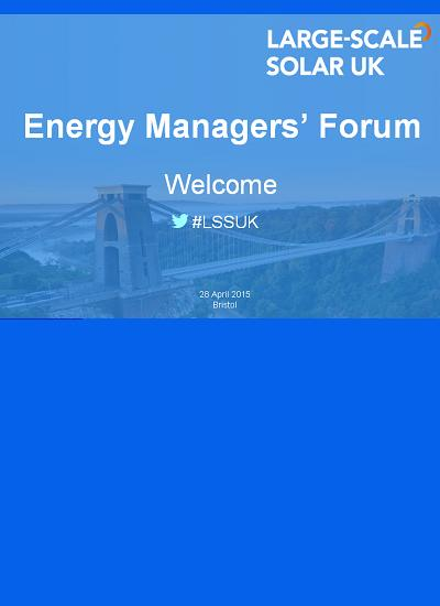 Thumbnail for Energy Managers' Forum (LSSUK 2015)