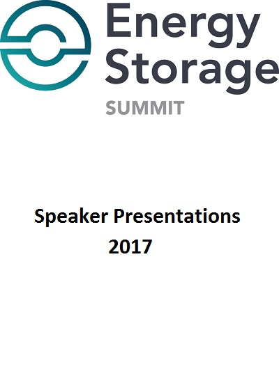 Thumbnail for Energy Storage Summit 2017 - Speaker Presentations