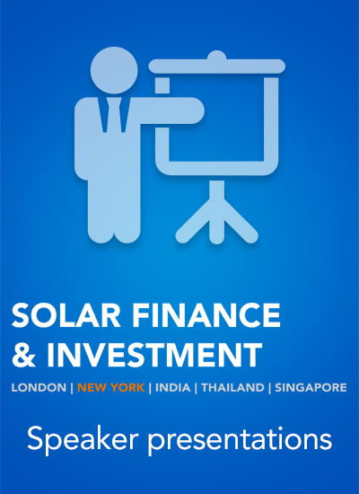 Thumbnail for Solar Finance & Investment USA - Speaker Presentations