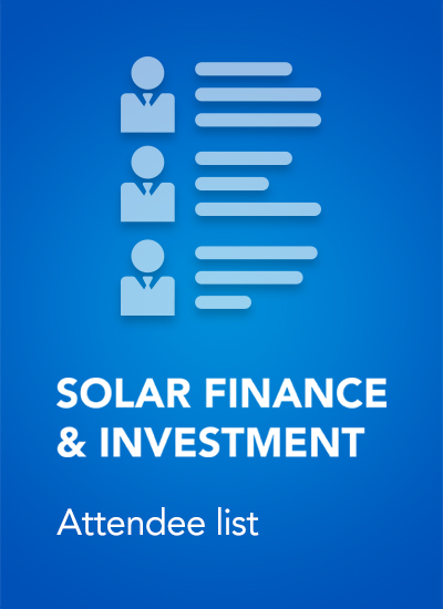 Thumbnail for Solar Finance & Investment:Europe 2019 - Attendee List