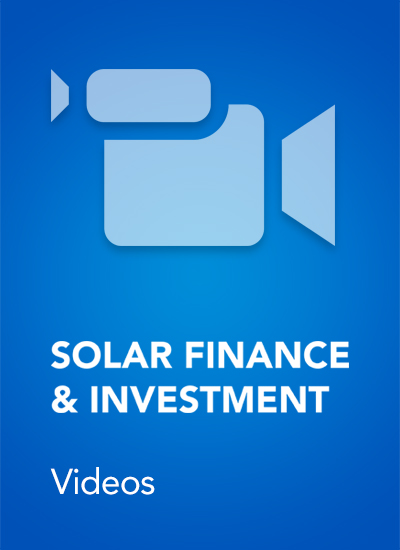 Thumbnail for Solar Finance & Investment - Videos from March 2015