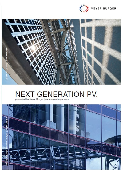 Thumbnail for Meyer Burger - Next Generation PV Brochure