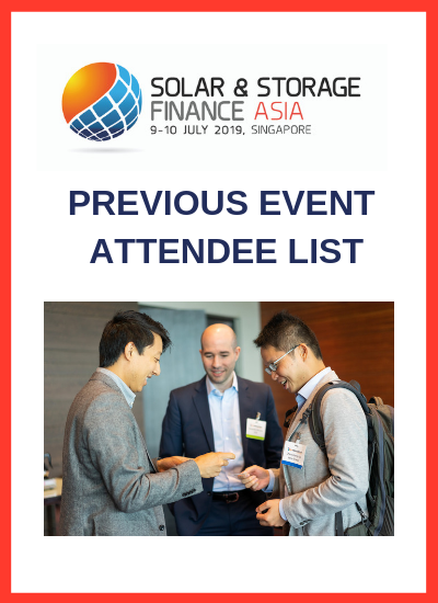 Thumbnail for Solar & Storage Finance Asia 2019, Attendee Sample List