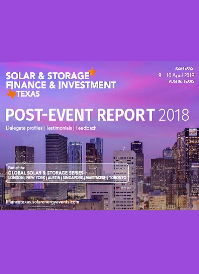 Thumbnail for Solar & Storage Finance & Investment Texas 2018 - Post Event Report