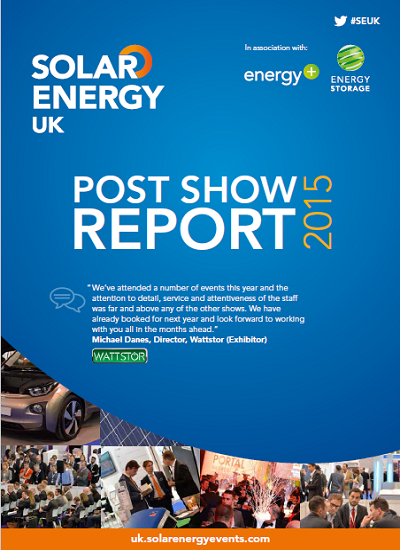 Thumbnail for Post Show Report: Solar Energy UK 2015