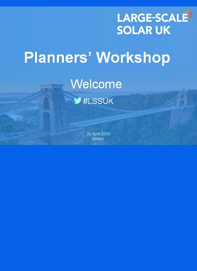Thumbnail for Planners' Workshop Presentations (LSSUK 2015)