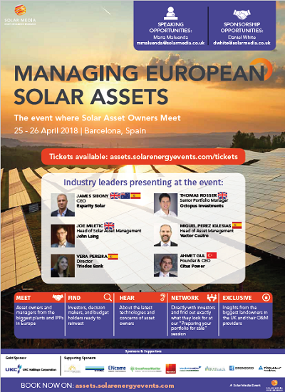 Thumbnail for Event Programme - Managing European Solar Assets 2018