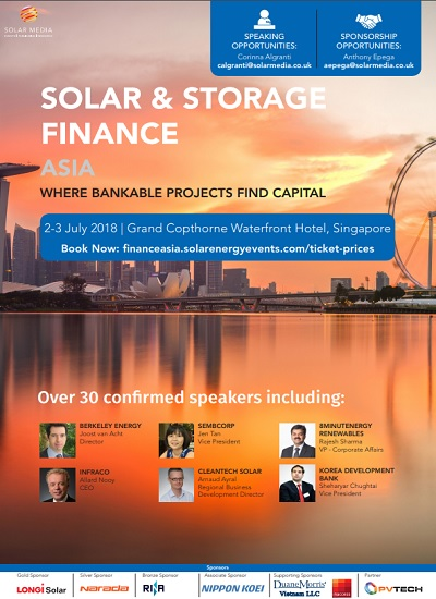 Thumbnail for Event Programme - Solar and Storage Finance Asia