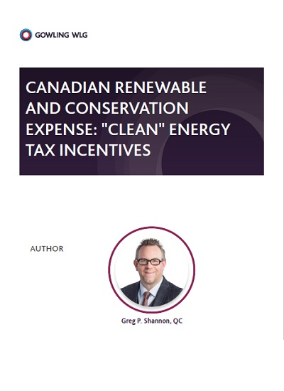 Thumbnail for Canadian Clean Energy Tax Incentives