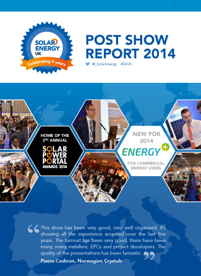 Thumbnail for Solar Energy UK Post-Show Report 2014