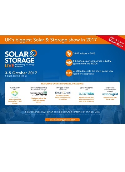 Thumbnail for Solar & Storage Live 2017 - Programme