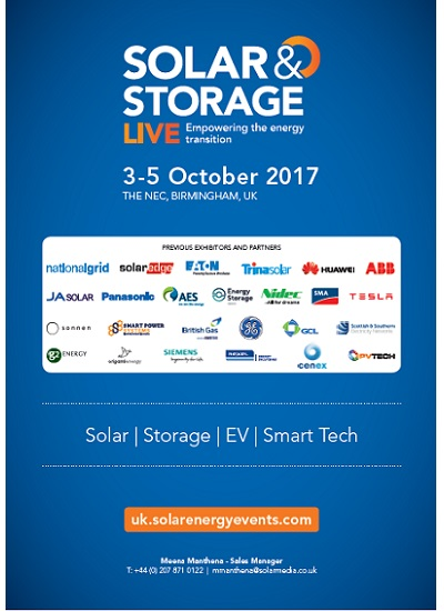 Thumbnail for Solar Storage Live 2017 - Brochure