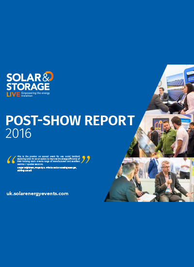 Thumbnail for Post Event Report - Solar & Storage Live 2016