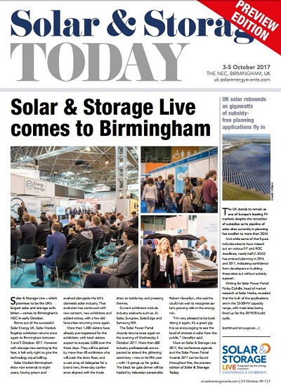 Thumbnail for Solar Storage Live 2017 - Show Preview
