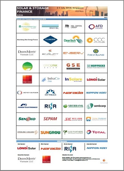 Thumbnail for 2018 Sample Attendee List - Solar and Storage Finance Asia