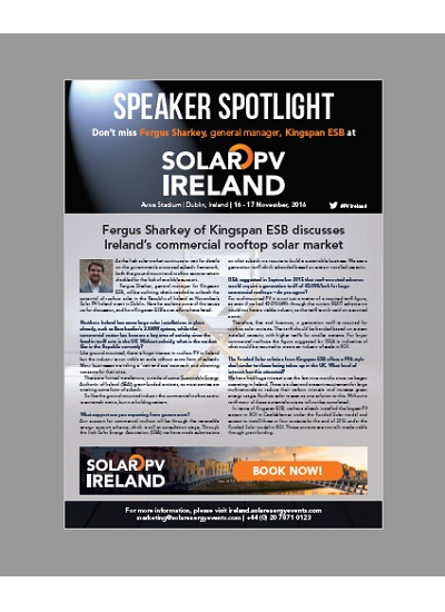 Thumbnail for Speaker Spotlight - Solar PV Ireland 2016 - Fergus Sharkey, Kingspan ESB