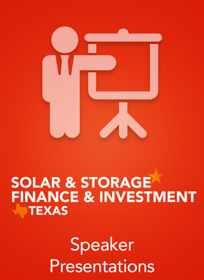 Thumbnail for Solar & Storage Finance & Investment Texas 2018 - Speaker Presentations