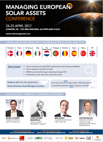 Thumbnail for Conference Programme - Managing European Solar Assets 2017 (London)