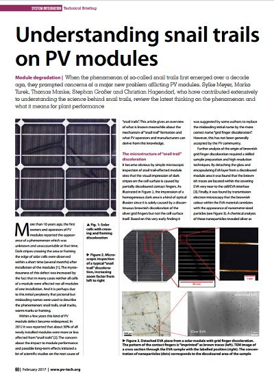 Thumbnail for Understanding snail trails on PV modules