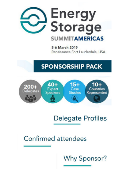 Thumbnail for Energy Storage Summit Americas Sponsorship Pack