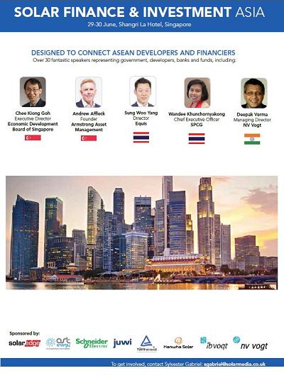Thumbnail for Solar Finance & Investment Asia - Conference Programme