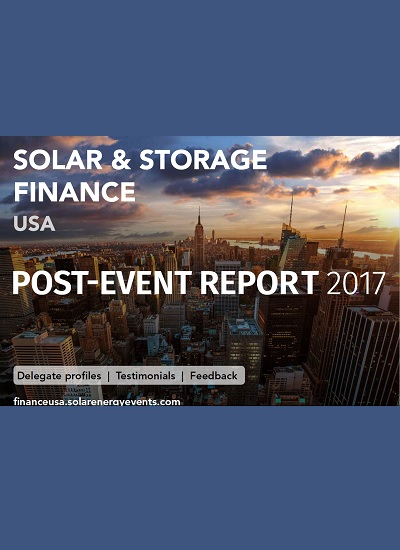 Thumbnail for Solar & Storage Finance USA 2017 - Post Event Report