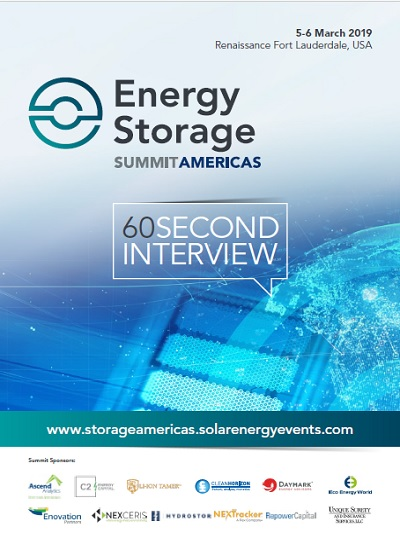 Thumbnail for 60 Second Interview - Energy Storage Summit Americas 2019