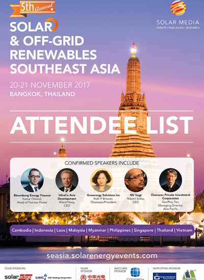 Thumbnail for Solar & Off-Grid Renewables Southeast Asia - Sample Attendee List 2017