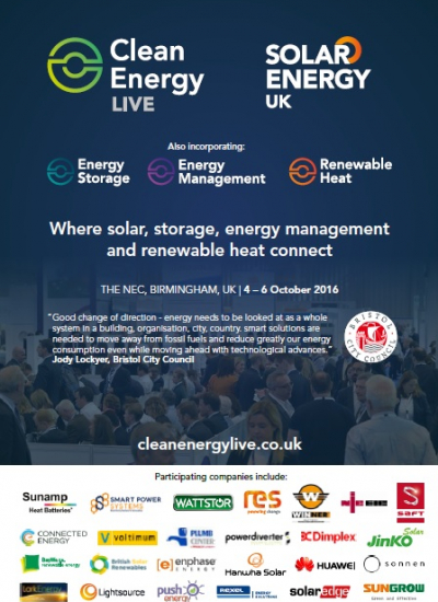 Thumbnail for Clean Energy Live 2016 - Exhibitor Media Pack