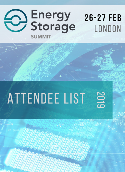 Thumbnail for Energy Storage Summit 2019 - Attendee List Download