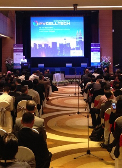 Thumbnail for Delegates packing the inaugural PVCellTech in Kuala Lumpur, Malaysia