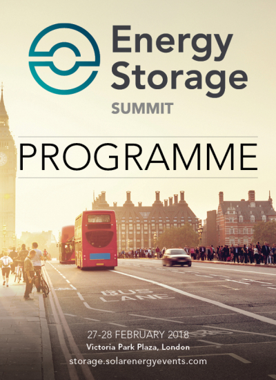 Thumbnail for Energy Storage Summit 2018 Programme