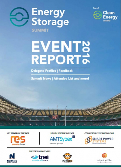 Thumbnail for Energy Storage Summit 2016 - Post Event Report