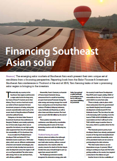 Thumbnail for Financing Southeast Asian solar