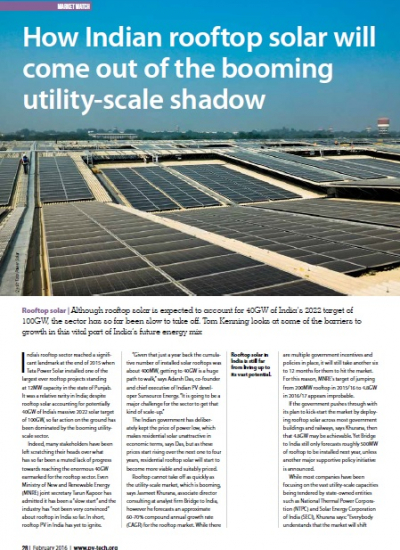 Thumbnail for How Indian Rooftop Solar will come out of the booming utility-scale shadow