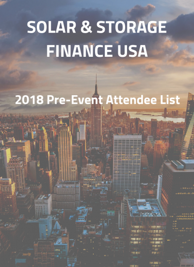 Thumbnail for Solar & Storage Finance USA - Attendee List
