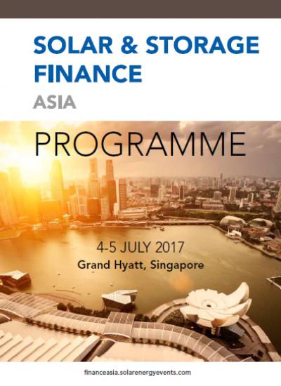 Thumbnail for Solar & Storage Finance Asia 2017 - Programme