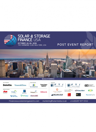 Thumbnail for Solar & Storage Finance USA Post Event Report 2018