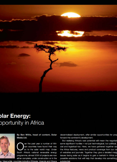 Thumbnail for Solar Energy - Opportunity in Africa