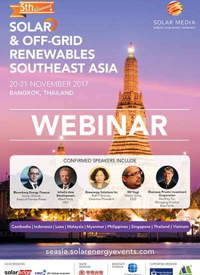 Thumbnail for WEBINAR: Southeast Asian Solar: Market Outlook and Policy Overview