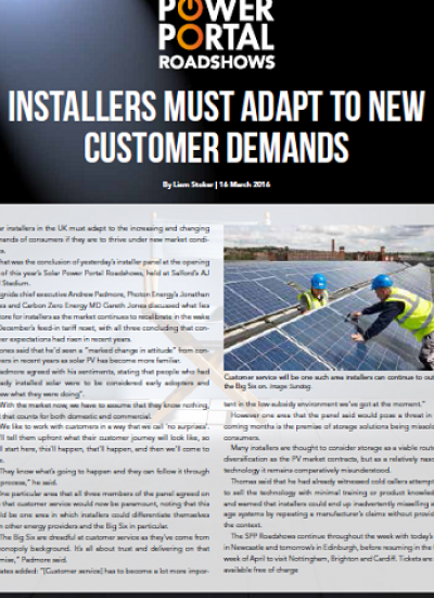 Thumbnail for INSTALLERS MUST ADAPT TO NEW CUSTOMER DEMANDS