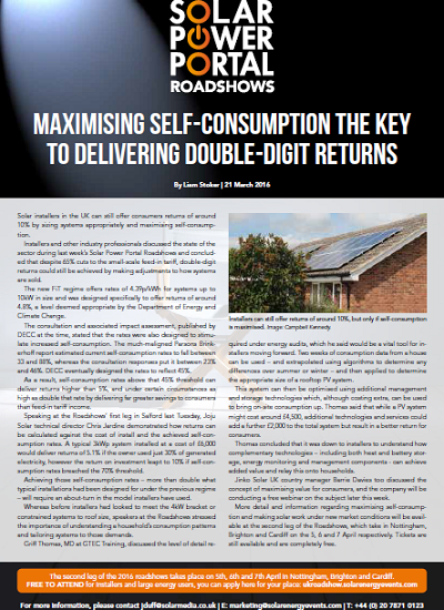 Thumbnail for MAXIMISING SELF-CONSUMPTION THE KEY TO DELIVERING DOUBLE-DIGIT RETURNS