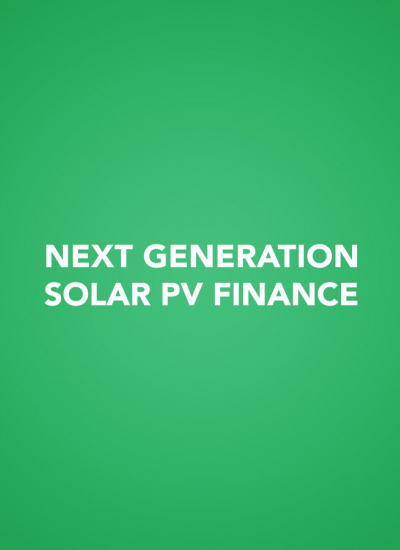 Thumbnail for Next Generation Solar PV Finance Presentations 2014