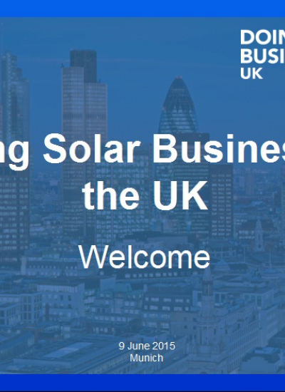 Thumbnail for Doing Solar Business in the UK Speakers Presentations